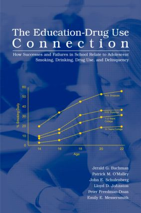 The Education-Drug Use Connection: How Successes and Failures in School Relate to Adolescent Smoking, Drinking, Drug Use, and Delinquency (Hardback) book cover