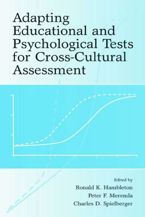 Adapting Educational and Psychological Tests for Cross-Cultural Assessment (Paperback) book cover