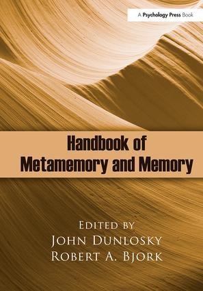Handbook of Metamemory and Memory (Hardback) book cover