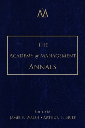 The Academy of Management Annals, Volume 1 (Hardback) book cover