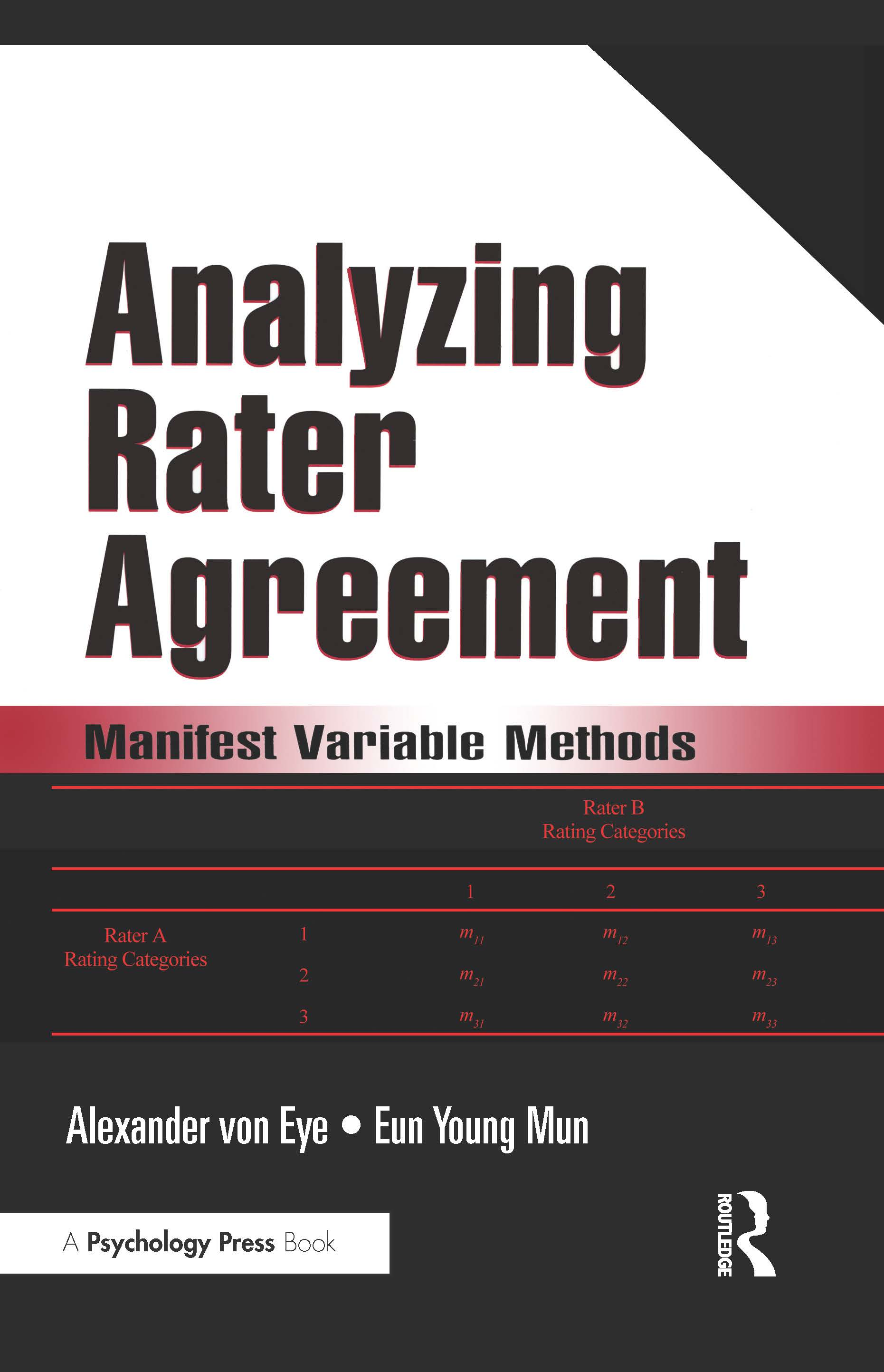 Analyzing Rater Agreement: Manifest Variable Methods (Paperback) book cover