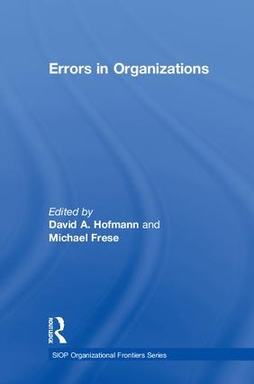Errors in Organizations (Hardback) book cover