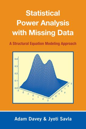 Statistical Power Analysis with Missing Data: A Structural Equation Modeling Approach (Paperback) book cover
