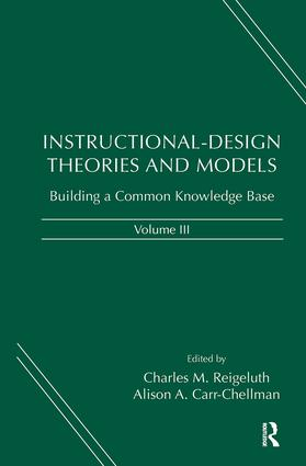 Instructional-Design Theories and Models, Volume III: Building a Common Knowledge Base (Hardback) book cover