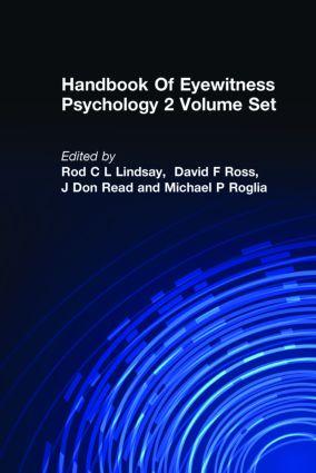 Handbook Of Eyewitness Psychology 2 Volume Set book cover