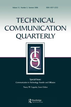 Communication Technology Transfer&Diffusion Tcq 15#3: 1st Edition (Paperback) book cover