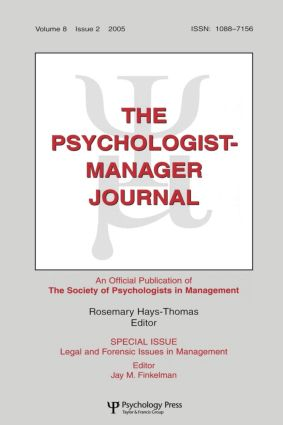 Legal And Forensic Isssues In Management Tpmj V8#2: 1st Edition (Paperback) book cover