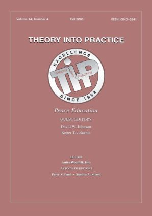 Peace Education Tip V44#4: 1st Edition (Paperback) book cover