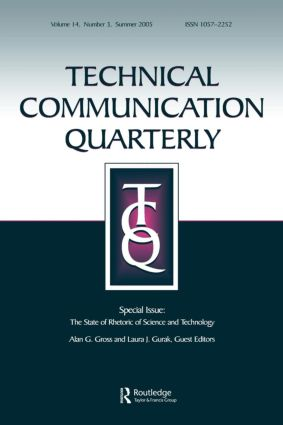The State of Rhetoric of Science and Technology: A Special Issue of Technical Communication Quarterly (Paperback) book cover