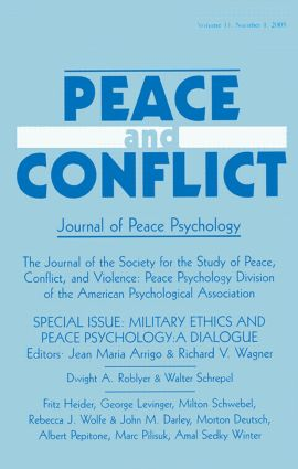 Military Ethics and Peace Psychology: A Dialogue:a Special Issue of peace and Conflict (Paperback) book cover