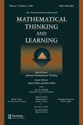 Advanced Mathematical Thinking: A Special Issue of Mathematical Thinking and Learning, 1st Edition (Paperback) book cover