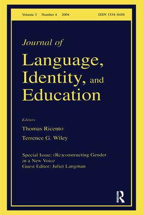 (Re)constructing Gender in a New Voice: A Special Issue of the Journal of Language, Identity, and Education, 1st Edition (Paperback) book cover