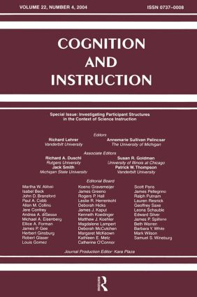 Investigating Participant Structures in the Context of Science Instruction: A Special Issue of Cognition and Instruction (Paperback) book cover