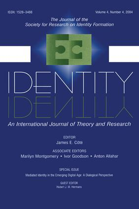 Mediated Identity in the Emerging Digital Age: A Dialogical Perspective:a Special Issue of identity, 1st Edition (Paperback) book cover