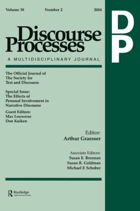 The Effects of Personal Involvement in Narrative Discourse: A Special Issue of Discourse Processes (Paperback) book cover