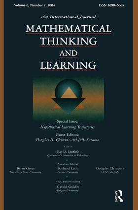 Hypothetical Learning Trajectories: A Special Issue of Mathematical Thinking and Learning, 1st Edition (Paperback) book cover