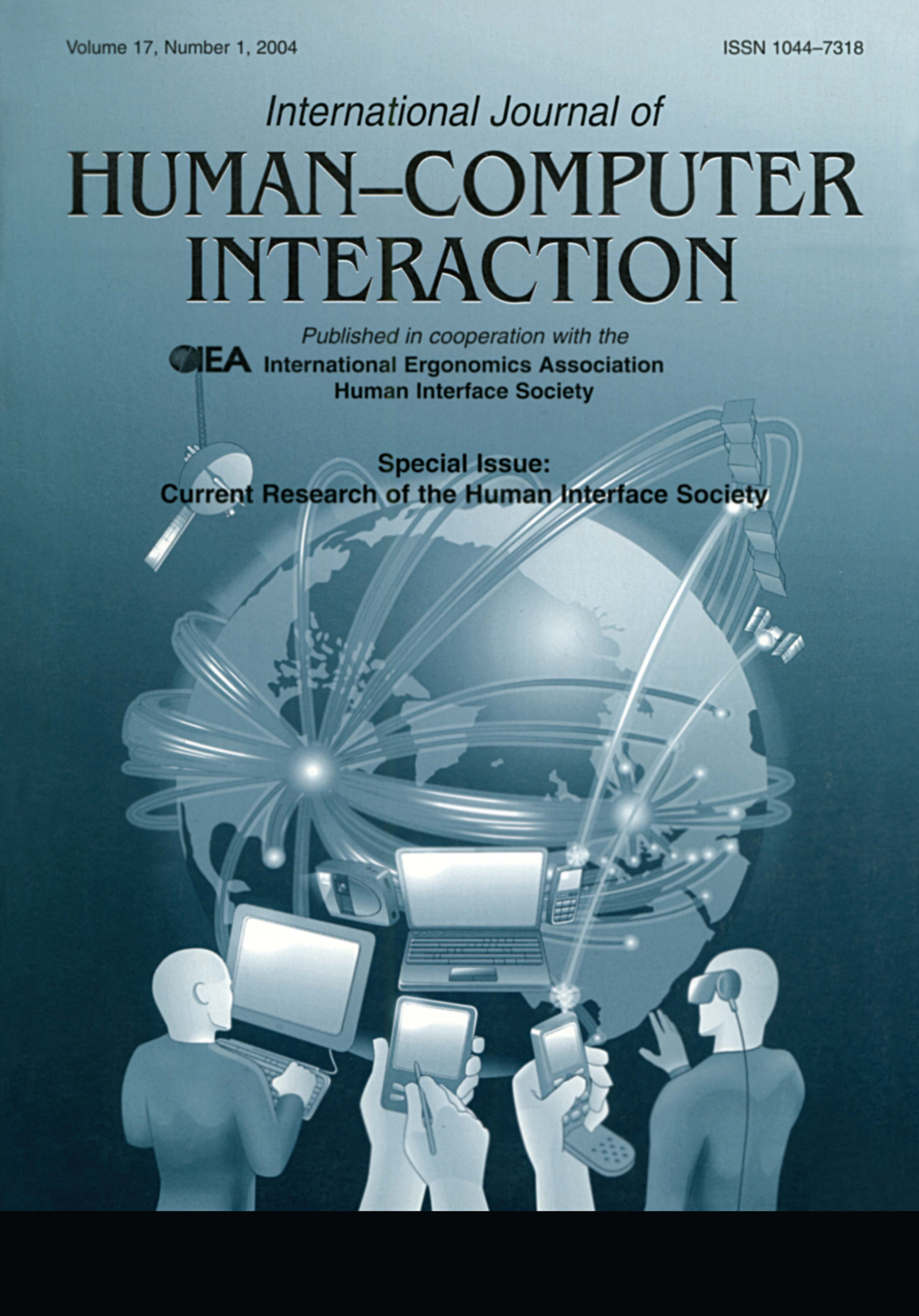 Current Research of the Human Interface Society: A Special Issue of the international Journal of Human-computer Interaction, 1st Edition (Paperback) book cover