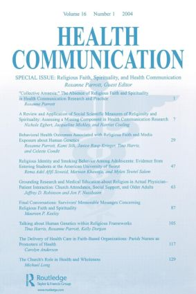 Religious Faith, Spirituality, and Health Communication: A Special Issue of Health Communication, 1st Edition (Paperback) book cover