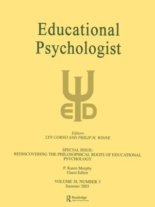Rediscovering the Philosophical Roots of Educational Psychology: A Special Issue of educational Psychologist (Paperback) book cover