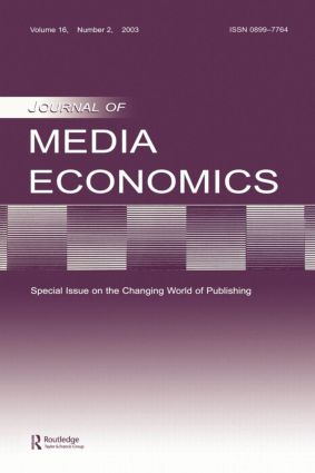 The Changing World of Publishing: A Special Issue of the Journal of Media Economics, 1st Edition (Paperback) book cover