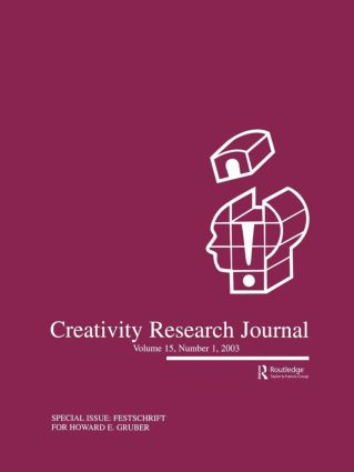 Festschrift for Howard E. Gruber: A Special Issue of the creativity Research Journal, 1st Edition (Paperback) book cover