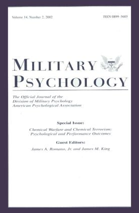 Chemical Warfare and Chemical Terrorism: Psychological and Performance Outcomes:a Special Issue of military Psychology, 1st Edition (Paperback) book cover