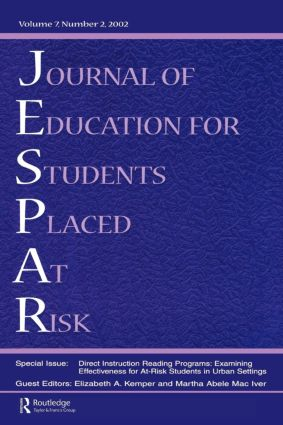 Direction instruction Reading Programs: Examining Effectiveness for at-risk Students in Urban Settings: A Special Issue of the journal of Education for Students Placed at Risk, 1st Edition (Paperback) book cover