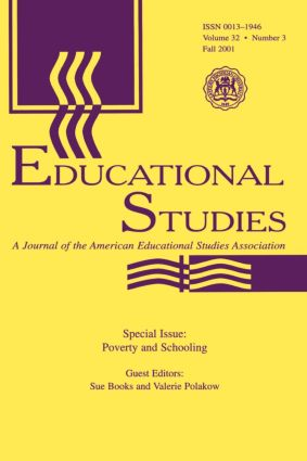Poverty and Schooling: A Special Issue of Educational Studies, 1st Edition (Paperback) book cover