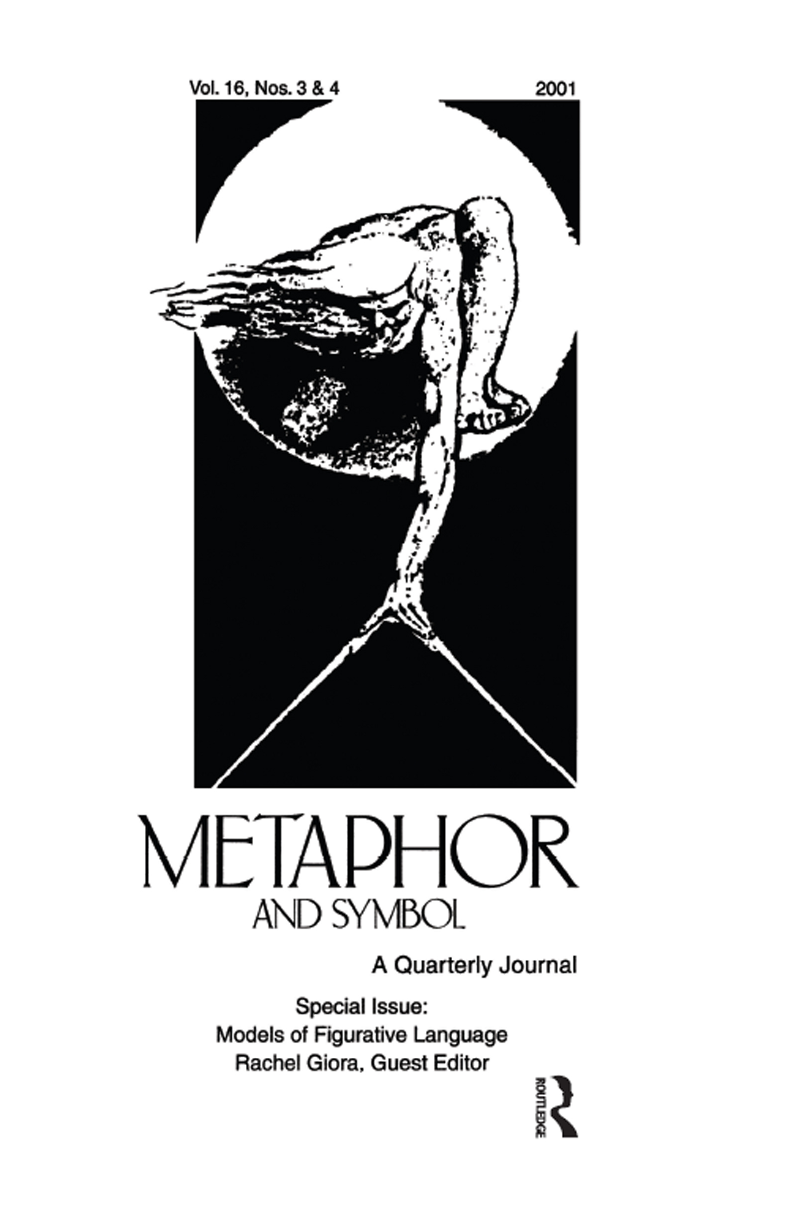 Models of Figurative Language: A Special Double Issue of Metaphor and Symbol, 1st Edition (Paperback) book cover