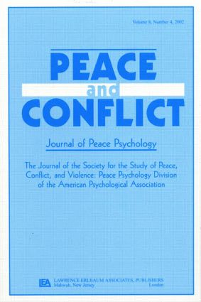 Civil Political Discourse: A Special Issue of peace & Conflict (Paperback) book cover