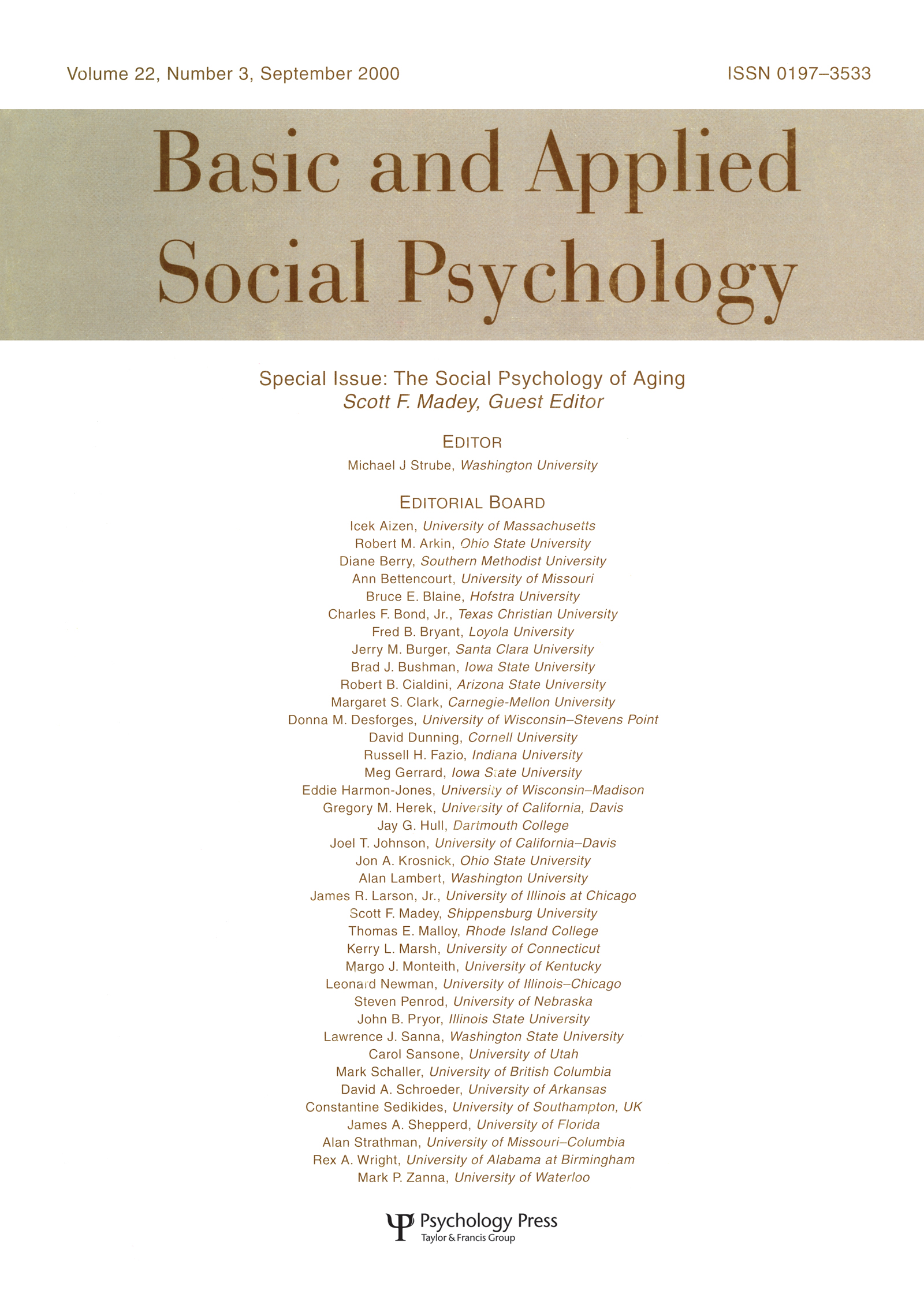 The Social Psychology of Aging