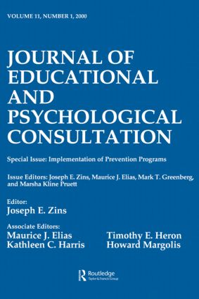 Implementation of Prevention Programs: A Special Issue of the journal of Educational and Psychological Consultation (e-Book) book cover