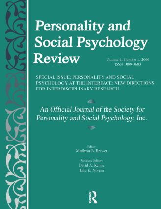 Personality and Social Psychology at the Interface: New Directions for Interdisciplinary Research: A Special Issue of personality and Social Psychology Review (Paperback) book cover