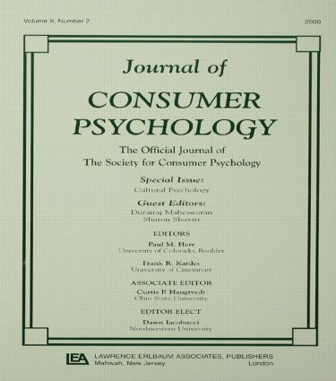 Cultural Psychology: A Special Issue of the journal of Consumer Psychology, 1st Edition (Paperback) book cover