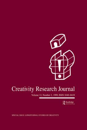 Longitudinal Studies of Creativity: A Special Issue of creativity Research Journal, 1st Edition (e-Book) book cover