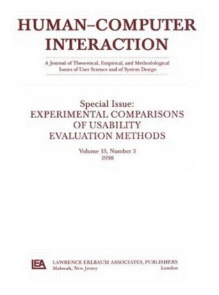 Experimental Comparisons of Usability Evaluation Methods