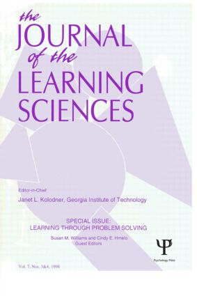Learning Through Problem Solving: A Special Double Issue of the Journal of the Learning Sciences (Paperback) book cover