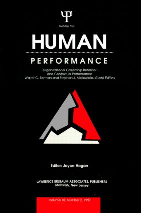 Organizational Citizenship Behavior and Contextual Performance: A Special Issue of Human Performance, 1st Edition (Paperback) book cover