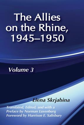 Allies on the Rhine, 1945-1950: 1st Edition (Hardback) book cover