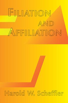 Filiation And Affiliation: 1st Edition (Paperback) book cover