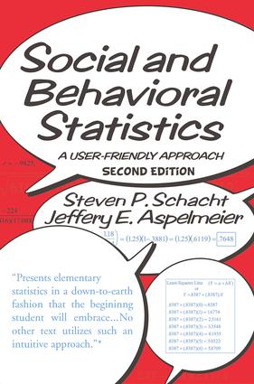 Social and Behavioral Statistics: A User-Friendly Approach book cover