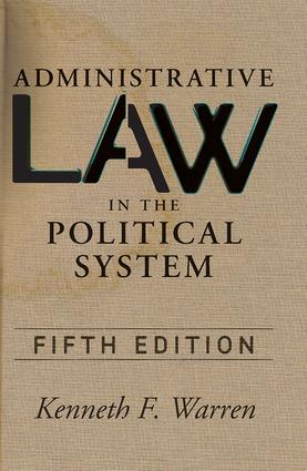 Administrative Law in the Political System book cover