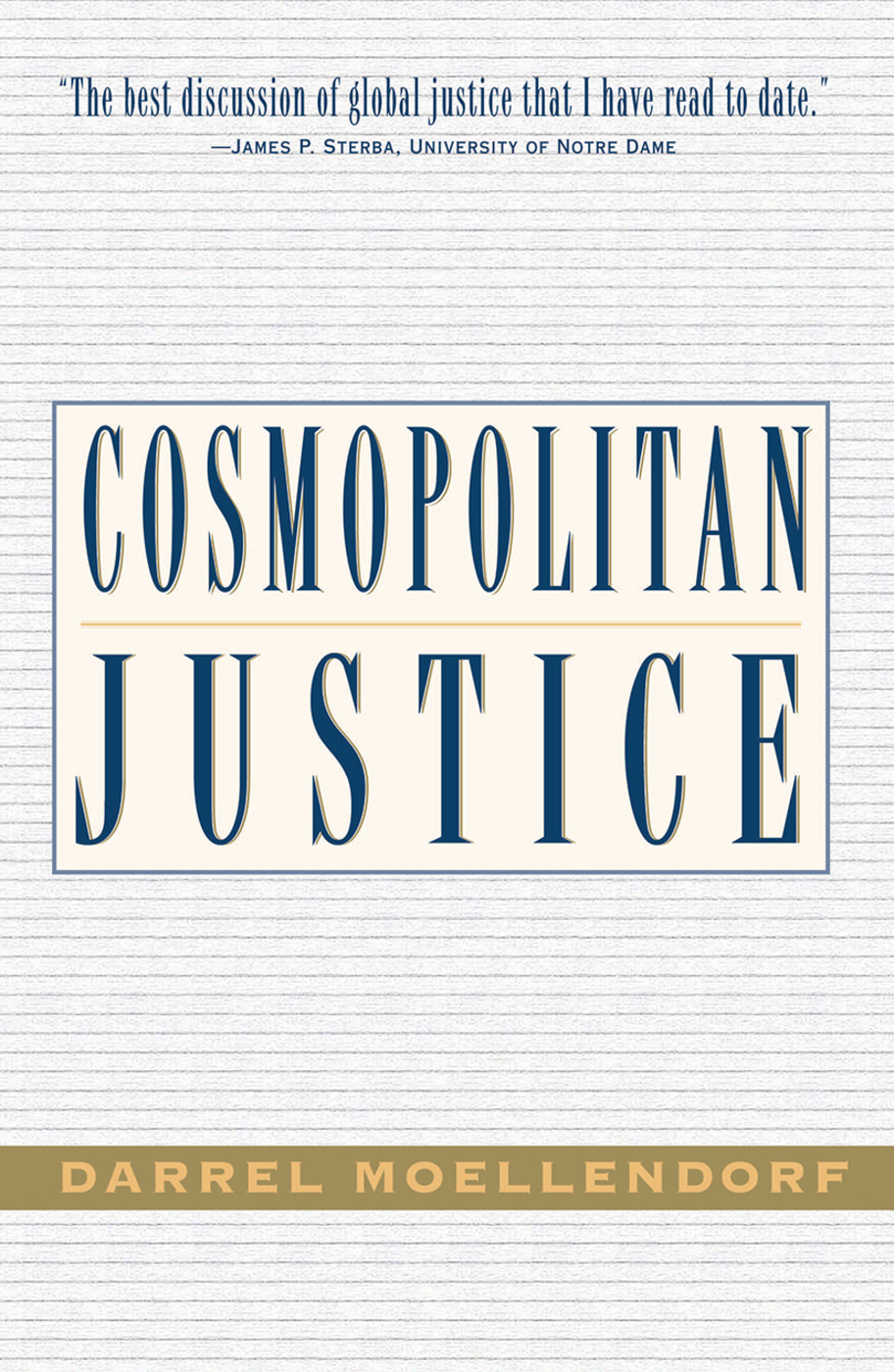 Cosmopolitan Justice: 1st Edition (Paperback) book cover
