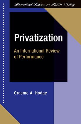 Privatization: An International Review Of Performance, 1st Edition (Paperback) book cover