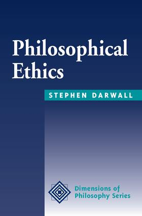 Philosophical Ethics: An Historical And Contemporary Introduction, 1st Edition (Paperback) book cover