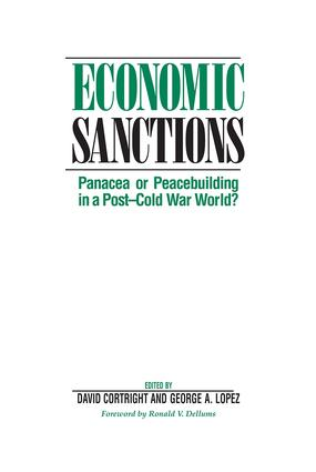 Economic Sanctions: Panacea Or Peacebuilding In A Post-cold War World?, 1st Edition (Paperback) book cover