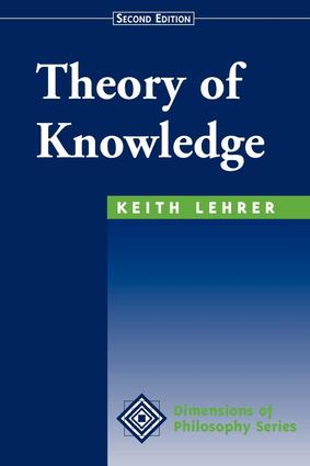 Theory Of Knowledge: Second Edition, 2nd Edition (Paperback) book cover