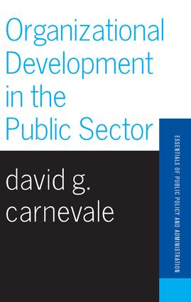 Organizational Development In The Public Sector: 1st Edition (Paperback) book cover