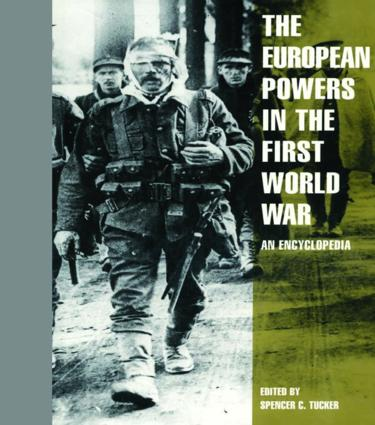 The European Powers in the First World War: An Encyclopedia, 1st Edition (Hardback) book cover