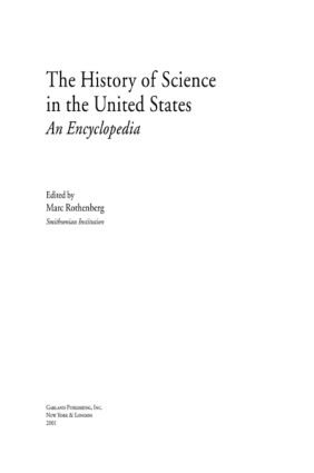 History of Science in United States: An Encyclopedia, 1st Edition (Hardback) book cover